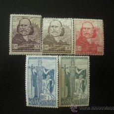 Sellos: SAN MARINO 1924 IVERT 97/101 ** 75 ANIVERSARIO RETIRADA DE GARIBALDI EN SAN MARINO. Lote 23853322