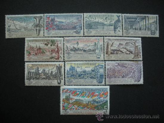 CHECOSLOVAQUIA 1961 YVERT 1172/82 *** EXPOSICIÓN INTERNACIONAL DE FILATÉLIA - PRAGA 62 - PAISAJES (Sellos - Extranjero - Europa - Otros paises)