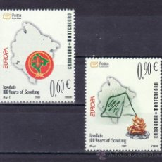 Sellos - montenegro 146/7 sin charnela, tema europa, centenario del movimiento scouts - 24722385