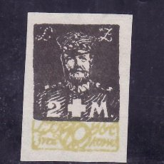 Sellos: LITUANIA OCUPACION POLACA 16 SIN DENTAR SIN GOMA, GENERAL ZELIGOWSKI. Lote 178733301