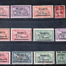 Sellos: MEMEL ADMINISTRACION FRANCESA 65/78 SIN GOMA, SOBRECARGADO . Lote 24875178