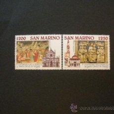 Sellos: SAN MARINO 1995 IVERT 1402/3 *** 7º CENTENARIO BASILICA DE LA SANTA CRUZ - MONUMENTOS. Lote 25418512