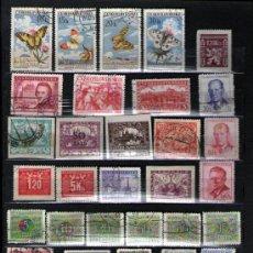 Sellos: LOTE DE 36 ANTIGUOS SELLOS USADOS DE CHECOSLOVAQUIA.. Lote 25455849