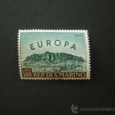 Sellos: SAN MARINO 1961 IVERT 523 *** EUROPA - VISTA DEL MONTE TITAN. Lote 25510045
