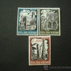 Sellos: SAN MARINO 1961 IVERT 524/6 *** EXPOSICIÓN FILATÉLICA DE BOLONIA - BOPHILEX - MONUMENTOS. Lote 25510104