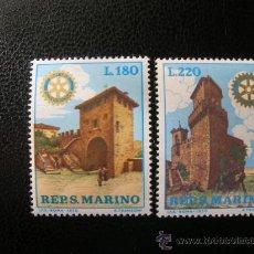 Sellos: SAN MARINO 1970 IVERT 764/5 *** ROTARY-CLUB -MONUMENTOS. Lote 25933072