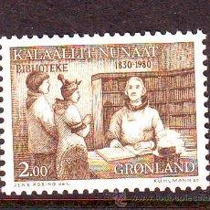 Sellos: GROENLANDIA****.AÑO 1980.YVERT NR.111. 150 ANIVERSARIO BIBLIOTECA GROENLANDIA.. Lote 178880288