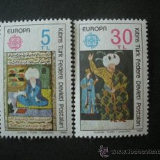 Sellos: CHIPRE TURCO 1980 IVERT 73/4 *** EUROPA - PERSONAJES. Lote 26631245