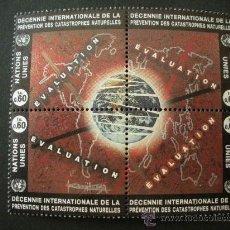 Sellos: NACIONES UNIDAS GINEBRA 1994 IVERT 270/3 *** DECENIO INTERNACIONAL PREVENCIÓN CATASTROFES NATURALES. Lote 27265209