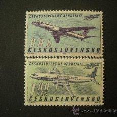 Sellos: CHECOSLOVAQUIA 1963 AEREO IVERT 57/8 *** 40º ANIVERSARIO DE CHECOSLOVAQUIA-AIRLINE - AVIONES. Lote 27501243