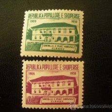 Sellos: ALBANIA 1960 IVERT 532/3 *** 50 ANIVERSARIO DE LA ESCUELA DE EBASAN . Lote 27960043