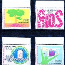 Sellos: SAN MARINO AÑO 1988 YV 1189/92*** CONFERENCIA PARA LA PREVENCIÓN DEL SIDA - SALUD - ÁRBOLES. Lote 28050994