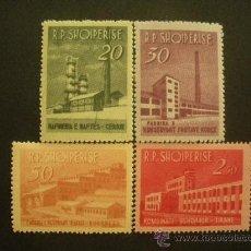 Sellos: ALBANIA 1963 IVERT 655/8 *** INDUSTRIA. Lote 28093765