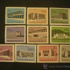 Sellos: ALBANIA 1965 IVERT 815/24 *** EDIFICIOS - ARQUITECTURA - MONUMENTOS. Lote 28104856