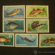 Sellos: ALBANIA 1967 IVERT 955/61 *** FAUNA - PECES. Lote 28104996