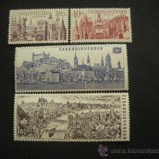 Sellos: CHECOSLOVAQUIA 1967 IVERT 1539/42 *** AÑO INTERNACIONAL DEL TURISMO - MONUMENTOS. Lote 29186598