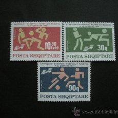 Sellos: ALBANIA 1992 IVERT 2280/2 *** COPA DE EUROPA DE FUTBOL EN SUECIA - DEPORTES. Lote 29642274
