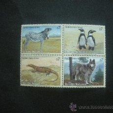 Sellos: NACIONES UNIDAS VIENA 1993 IVERT 159/62 *** ANIMALES EN PELIGRO DE EXTINCIÓN (I) - FAUNA. Lote 30117094