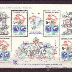 Sellos: CHECOSLOVAQUIA HB 63A*** - AÑO 1984 - 19º CONGRESO DE LA DE LA UNION POSTAL UNIVERSAL, HAMBURGO. Lote 34088571