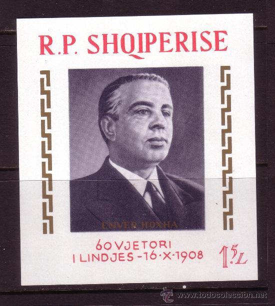 ALBANIA HB 10*** - AÑO 1968 - 60º ANIVERSARIO DEL PRESIDENTE ENVER HODJA (Sellos - Extranjero - Europa - Otros paises)