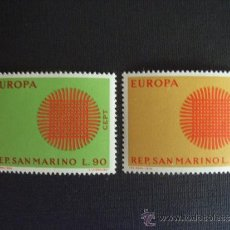 Sellos: SAN MARINO Nº YVERT 762/3*** AÑO 1970. TEMA EUROPA. Lote 34693147