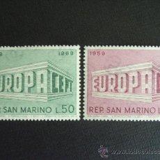 Sellos: SAN MARINO Nº YVERT 732/3*** AÑO 1969. TEMA EUROPA. Lote 34693191