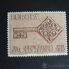 Sellos: SAN MARINO Nº YVERT 720*** AÑO 1968. TEMA EUROPA. Lote 34706014