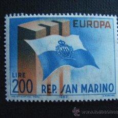 Sellos: SAN MARINO Nº YVERT 604*** AÑO 1963. TEMA EUROPA. Lote 35270154