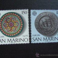 Sellos: SAN MARINO Nº YVERT 923/4*** AÑO 1976. TEMA EUROPA.ARTESANIA. Lote 35270385