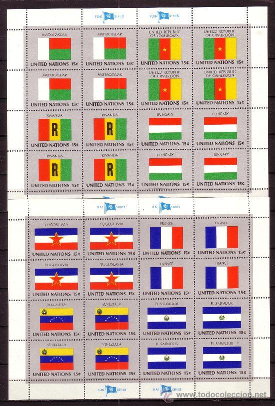 NACIONES UNIDAS NEW YORK 316/31 HB*** - AÑO 1980 - BANDERAS DE LOS PAISES MIEMBROS (Sellos - Extranjero - Europa - Otros paises)
