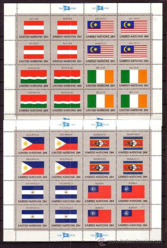 NACIONES UNIDAS NEW YORK 365/80 HB*** - AÑO 1982 - BANDERAS DE LOS PAISES MIEMBROS (Sellos - Extranjero - Europa - Otros paises)