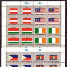 Sellos: NACIONES UNIDAS NEW YORK 365/80 HB*** - AÑO 1982 - BANDERAS DE LOS PAISES MIEMBROS. Lote 36481600