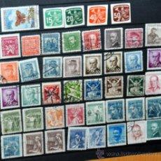 Sellos: LOTE DE 45 ANTIGUOS SELLOS USADOS DE CHECOSLOVAQUIA - LOS QUE SE VEN EN LAS IMÁGENES. Lote 36680106