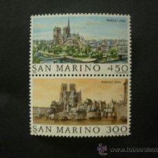 Sellos: SAN MARINO 1982 IVERT 1057/8 *** GRANDES CIUDADES DEL MUNDO - PARIS . Lote 37162636