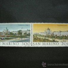 Sellos: SAN MARINO 1981 IVERT 1027/8 *** GRANDES CIUDADES DEL MUNDO (V) - VIENA - MONUMENTOS. Lote 37240010
