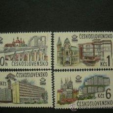Sellos: CHECOSLOVAQUIA 1978 IVERT 2289/92 *** EXPOSICIÓN FILATELICA INTERNACIONAL (VIII) PRAGA - MONUMENTOS. Lote 37629270
