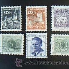 Sellos: LOTE 6 SELLOS DE CESKOSLOVENSKO. Lote 37995633