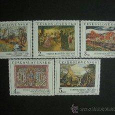 Sellos: CHECOSLOVAQUIA 1984 IVERT 2608/12 *** PINTURAS DE GALERIAS NACIONALES DE ARTISTAS CHECOS. Lote 38160629