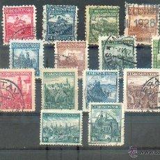 Sellos: CHECOSLOVAQUIA CASTILLOS 1926/38. Lote 40683616