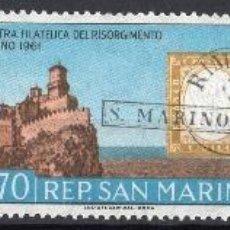 Sellos: SAN MARINO AÑO 1961 YV 520/22*** EXPOSICIÓN FILATÉLICA DE TURÍN - SELLO SOBRE SELLO - TURISMO. Lote 41491067
