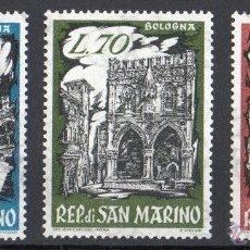Sellos: SAN MARINO AÑO 1961 YV 524/26*** EXPOSICIÓN FILATÉLICA DE BOLONIA - MONUMENTOS - TURISMO. Lote 41491468