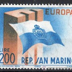 Sellos: SAN MARINO AÑO 1963 YV 604*** EUROPA - BANDERAS. Lote 41491542