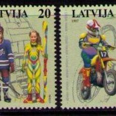 Sellos: LETONIA - 1997 - LATVIJA - DEPORTES PARA LA JUVENTUD - YVERT Nº 419-422. Lote 41528956