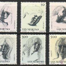 Sellos: SAN MARINO AÑO 1976 YV 908/17*** LAS VIRTUDES CIVILES - DIBUJOS DE EMÍLIO GRECO - ARTE. Lote 42636188