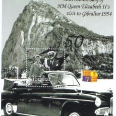 Sellos: GIBRALTAR 2004 50º ANIVERSARIO ELIZABETH 2ª HB HOJA BLOQUE NUEVA MNH ***. Lote 42675215