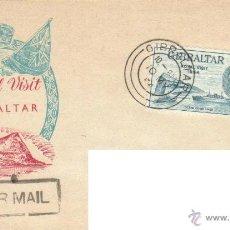 Sellos: GIBRALTAR SOBRE PRIMER DIA VISITA REAL 1954 SPD. Lote 58383836