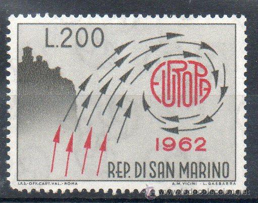 SAN MARINO AÑO 1962 YV 572*** EUROPA (Sellos - Extranjero - Europa - Otros paises)