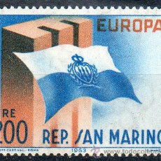 Sellos: SAN MARINO AÑO 1963 YV 604*** EUROPA - BANDERAS. Lote 43585853