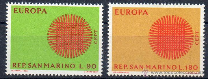 SAN MARINO AÑO 1970 YV 762/63*** EUROPA (Sellos - Extranjero - Europa - Otros paises)