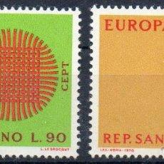 Sellos: SAN MARINO AÑO 1970 YV 762/63*** EUROPA. Lote 43585940
